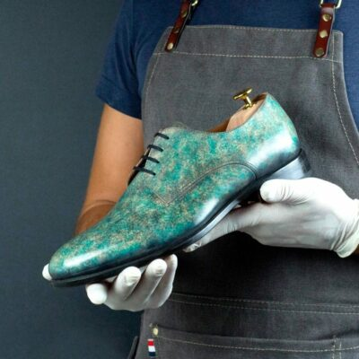 LIMITED EDITION Turquoise Stone Hand Patina Derby