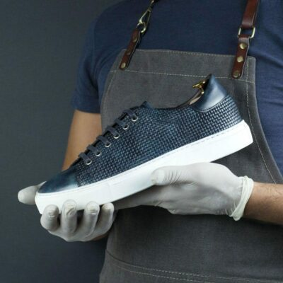 SPECIAL EDITION Cupsole Trainer with Ocean Museum Hand Patina