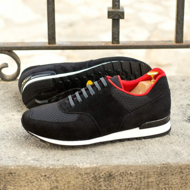 Custom Made Men's Sneaker in Black Luxe Suede