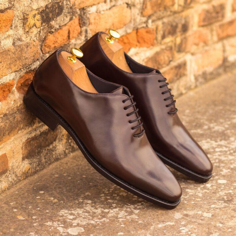 Custom Made Men's Goodyear Welt Wholecut Dress Shoes in Burgundy Shell Cordovan
