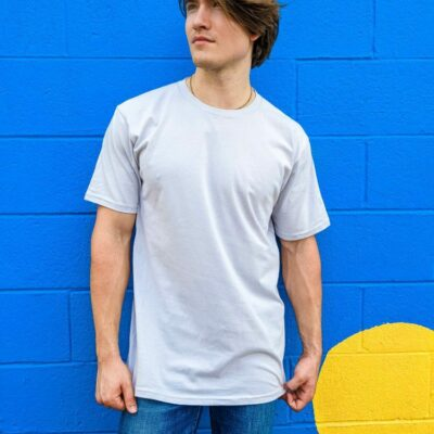 The Crew Neck Tee - Platinum **Made In The USA**