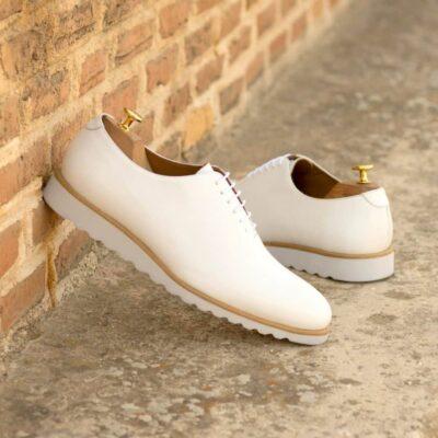 Custom Made Men's Wholecut Dress Shoes in White Box Calf