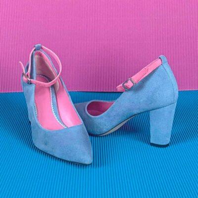 Custom Made Women's Florence High Heel in American Jeans Suede