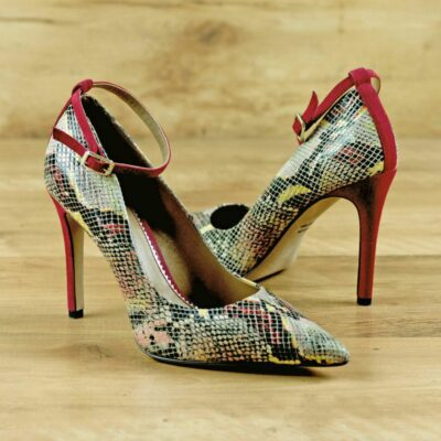 Custom Made Women's Florence High Heel in Red Cascabel