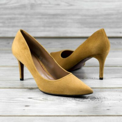Custom Made Women's Florence High Heel in Sand Desert Italian Suede