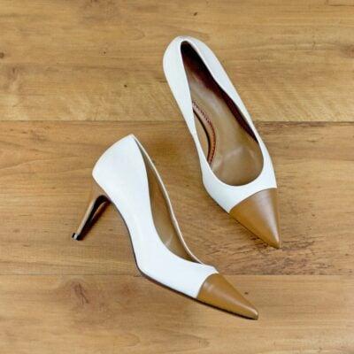 Custom Made Women's Milan High Heel in Pure White Nappa Leather