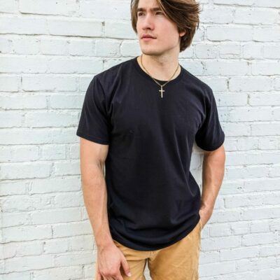 The Crew Neck Tee - Black **Made In The USA**