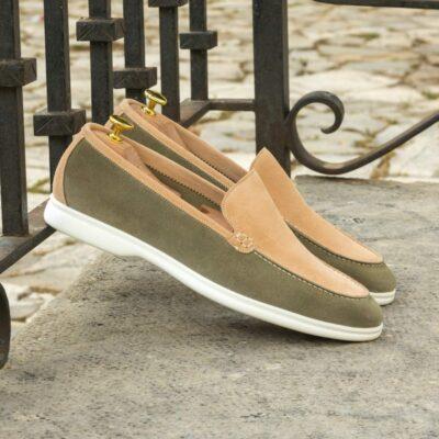 Custom Made Men's Flex Sport Moccasin in Sand and Beige Suede
